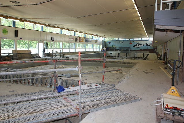 Zwembad De Fakkel : Renovatie zwembad de fakkel ridderkerk bouwbedrijf van der pol bv