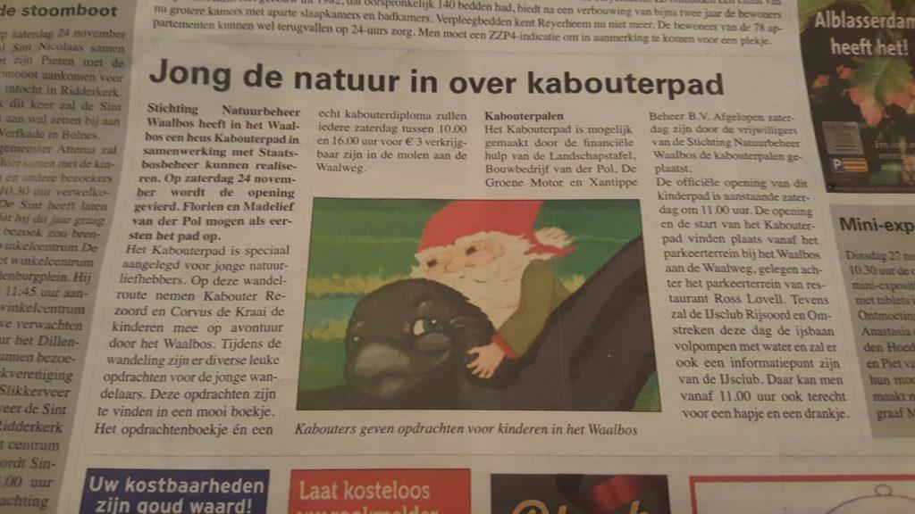 Kabouterpad Ridderker Waalbos De Combinatie voorpagina